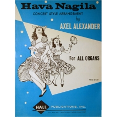 Collectible! Hava Nagila Sheet Music for the Organ